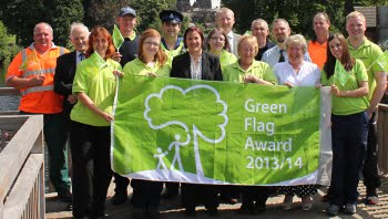 Parks Team, double Green Flag winners