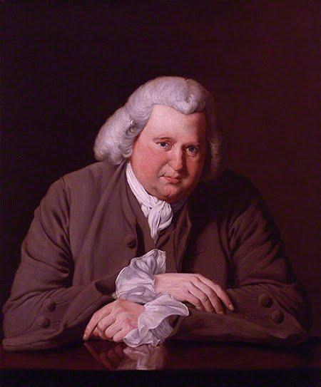Erasmus Darwin in 1770. Portrait by Joseph Wright of Derby