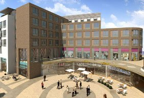Friarsgate with hotel artists impression